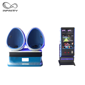 Infinity 720 Rotation 9D VR Egg Cinema VR Simulator Roller Coaster 2 Seats Virtual Reality BFFlim Blue Movie For Amusement Park