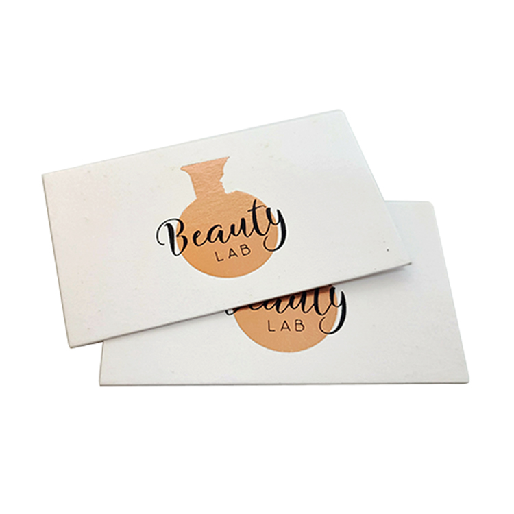 high quality luxury rose gold foil and silver foil stamping business cards with own logo