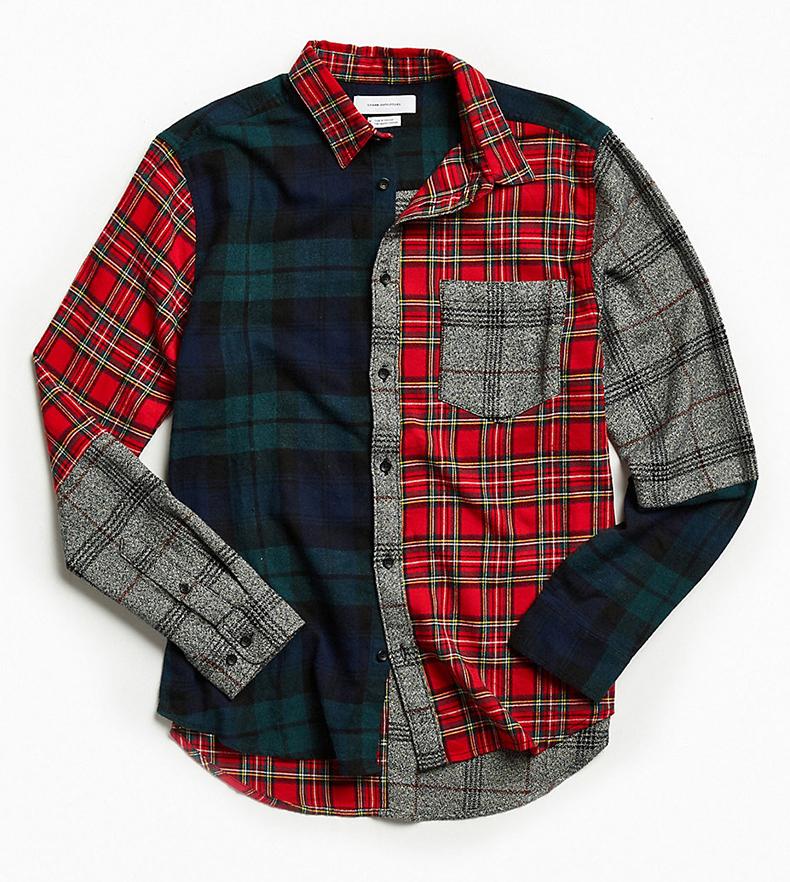 2020 OEM סיטונאי מקרית mens custom כישוף 3 טון צבעים כותנה פלנל חולצה