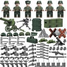 Тихий мир войны 2 Battlegrounds США WW2 армейский солдат фигурки военный оружие Строительные блоки Кирпич совместимые legoed игрушки-танки(Китай)