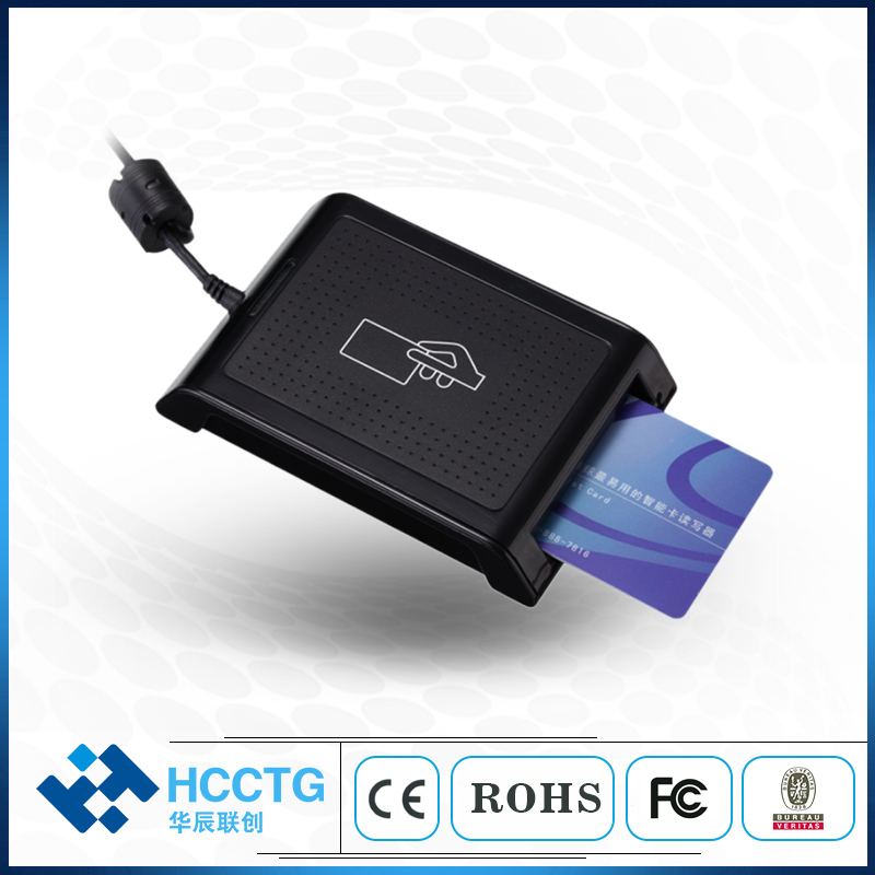 Dual Interface SAM Slot Reader  Contact + Contactless Chip IC USB NFC Smart Card Reader HD5