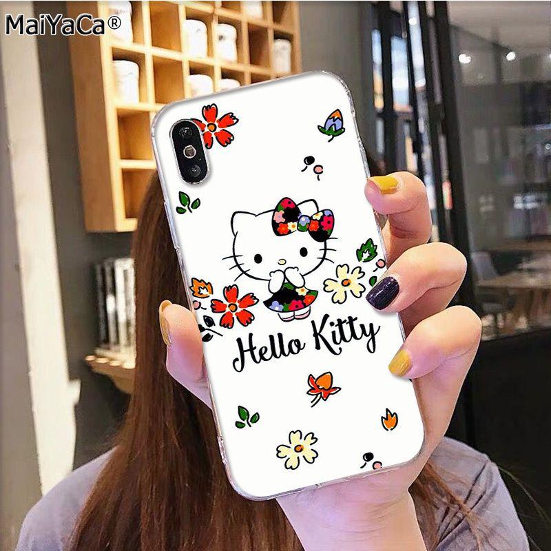 MaiYaCa Горячая модная Hello Kitty на продажу аксессуары для телефона чехол для iphone 11 pro 8 7 66S Plus X 5S SE XR XS MAX(Китай)