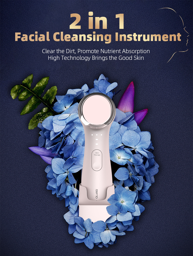 Olansi New Design 2019 Face Facial Cleaning Brush Electric Cleansing Machine