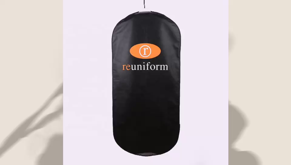 カスタムロゴ折りたたみ服カバー不織布スーツバッグ女性メンズビジネス旅行ガーメントバッグ