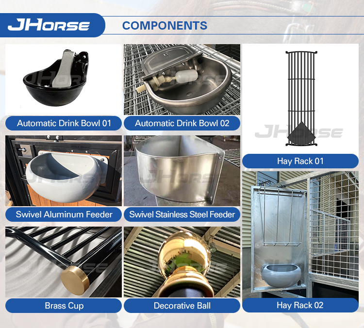 Direct Factory Supplies Most Popular Patent Design Internal Powder Coated Horse Stalls
