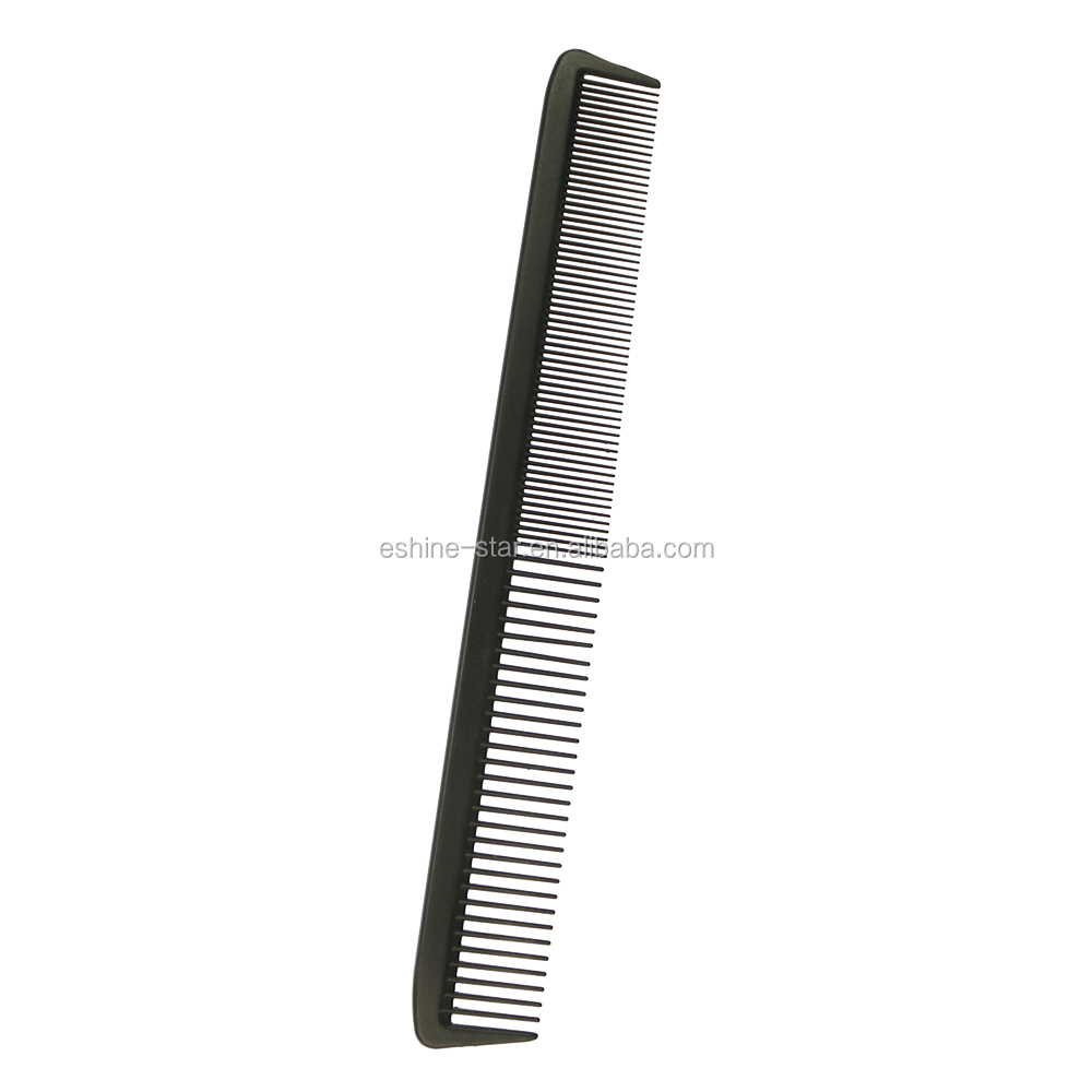 Private logo wide teeth carbon antiatatic material hair cutting comb for home and salon