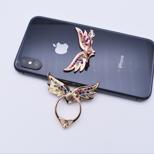 Phone Ring Stand Holder Hand Grip Universal Smartphone Mount 360 Rotation Fit for All Phones Angel Wing Phone Bracket Holder