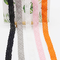 Deepeel EB007 18mm DIY Clothing Decor Sewing Material Accessories Trims Ribbon Cloth Elastic Band Hollow Elastic Lace
