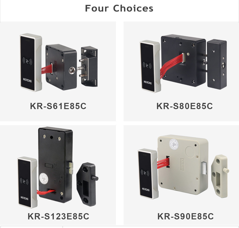KERONG Smart Safety Electronic RFID Card Digital Number Coded Cabinet,Drawer Latch Locks for Cabinet