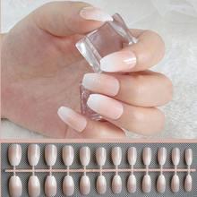 Гроб поддельные ногти Короткие Im пресс французский пресс на ногтях с искусственной Ongles Autocollant прозрачные пластмассовые накладные ногти для...(Китай)