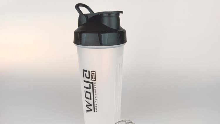 Funtime Botella De Agua 600Ml Plastik Olahraga Bubuk Protein Shaker Botol Air Botol dengan Custom Logo