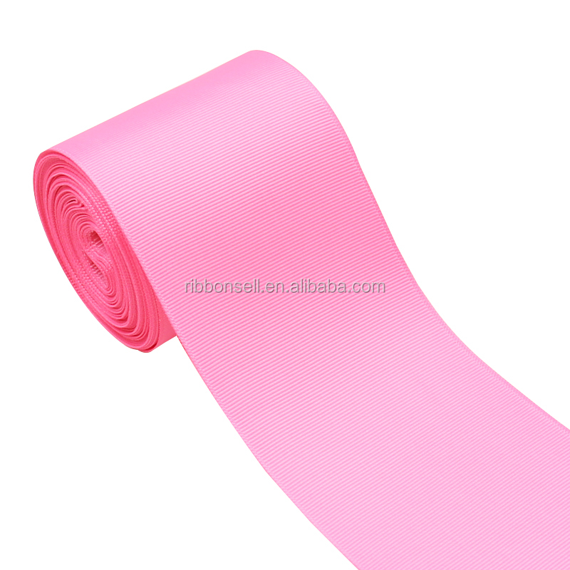 For Hair Bows 75mm Solid Color Plain Gift Grosgrain Ribbon With High Quality In Stock