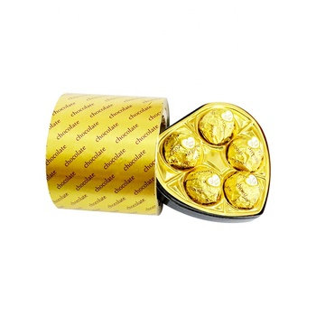 Chocolate Wrappers Custom Gold Colored Aluminum foil paper for food
