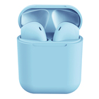 wholesale price headset i12 colorful wireless earphones in-ear headphones i12 tws