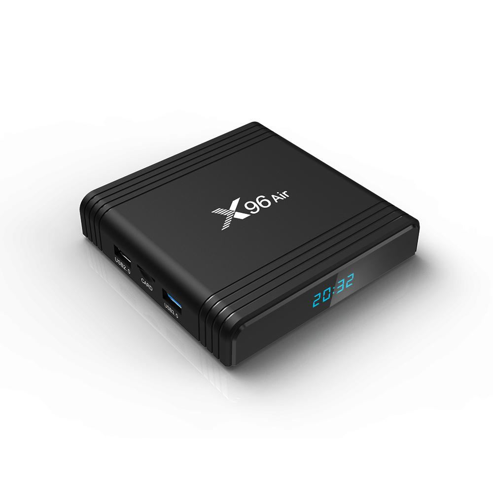 Potente all'ingrosso della fabbrica X96 Aria S905x3 4G di RAM 2.4g 5G Dual Wifi tv box 4gb 32gb 64gb box tv 8k android 9 OTT box