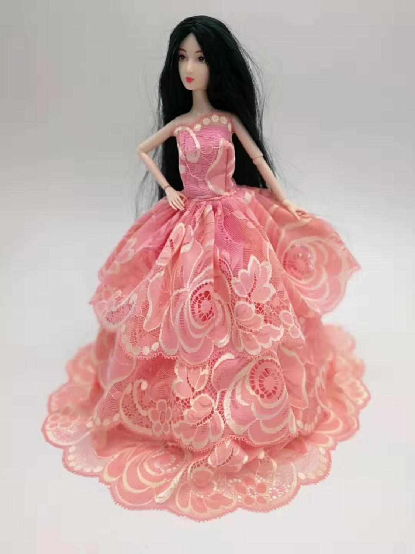 Кукла платье Принцесса Кукла официальная одежда ручной работы кукла тюль кружевное платье для 30 см принцесса кукла аксессуары девочка пода...(Китай)