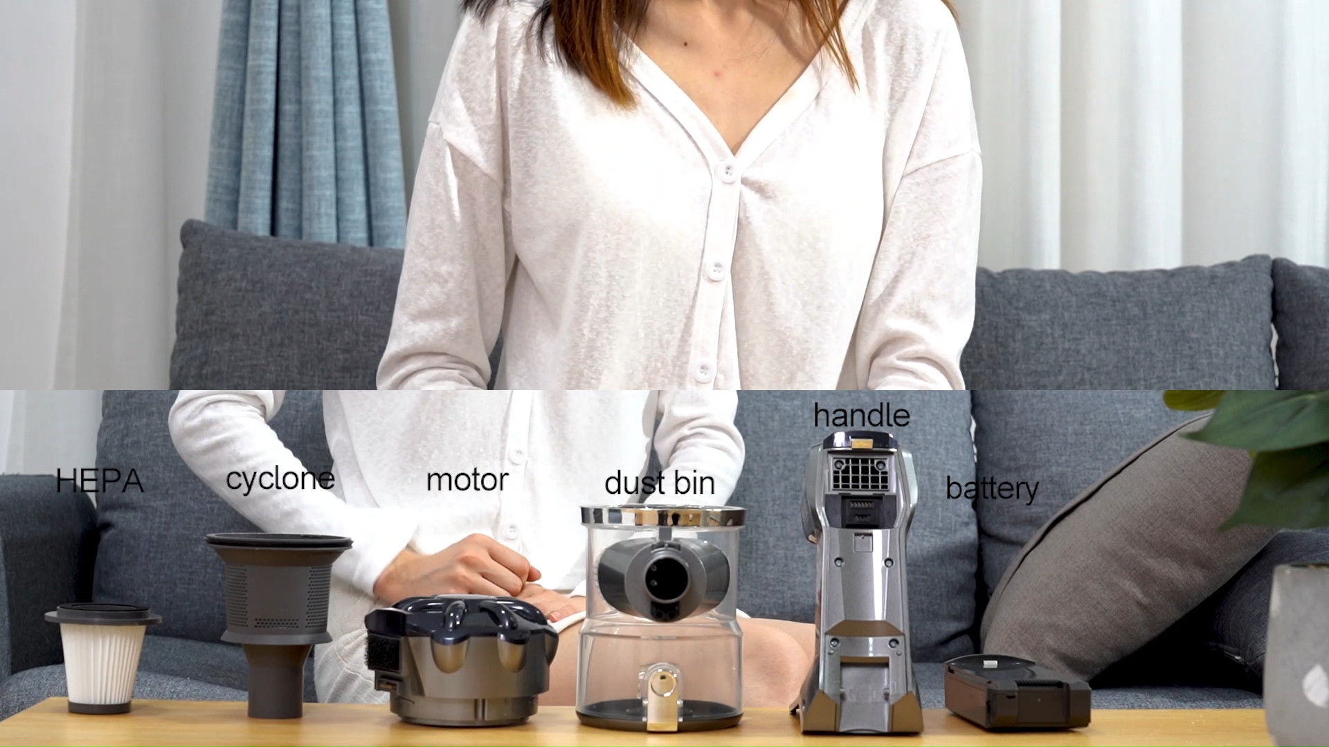 Wireless Car Vacuum Cleaner  Cordless bagless hand-held vacuum cleaner for carpet home