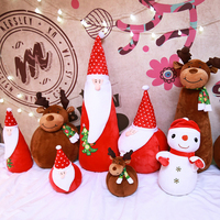Christmas ornaments stuffed elf dolls christmas lovers plush doll christmas doll plush toy gift