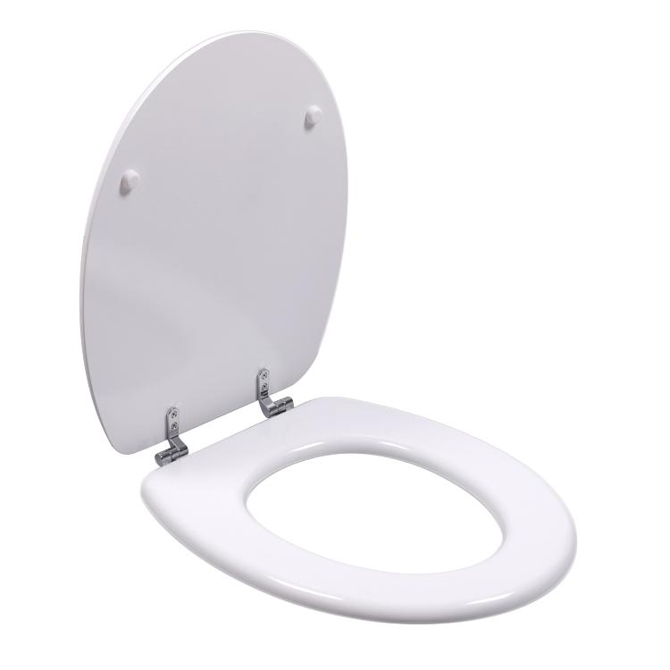 Bofan cheap 19' Molded elongated wood PU Decorative Elongated European Style Family Shell Toilet Seat
