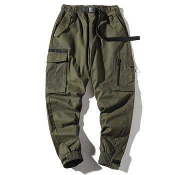 100% cotton hip hop cargo pants for young men