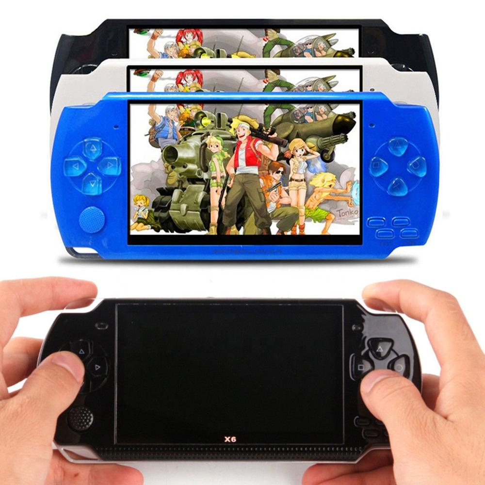 X6 Game Console 4.3 Inch Screen 128 bit Video Games Consoles Game Player For PSP Game