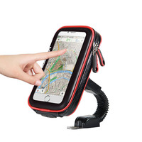 Waterproof Bicycle Motorcycle Phone Bag Holder For IPhone X, Bike Cycling Mobile Phone Support Stand Mount