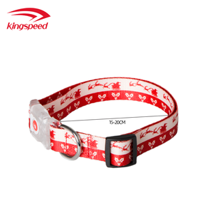 Christmas pet accessories custom patterned led adjustable dog collars supplier for Christmas promotion