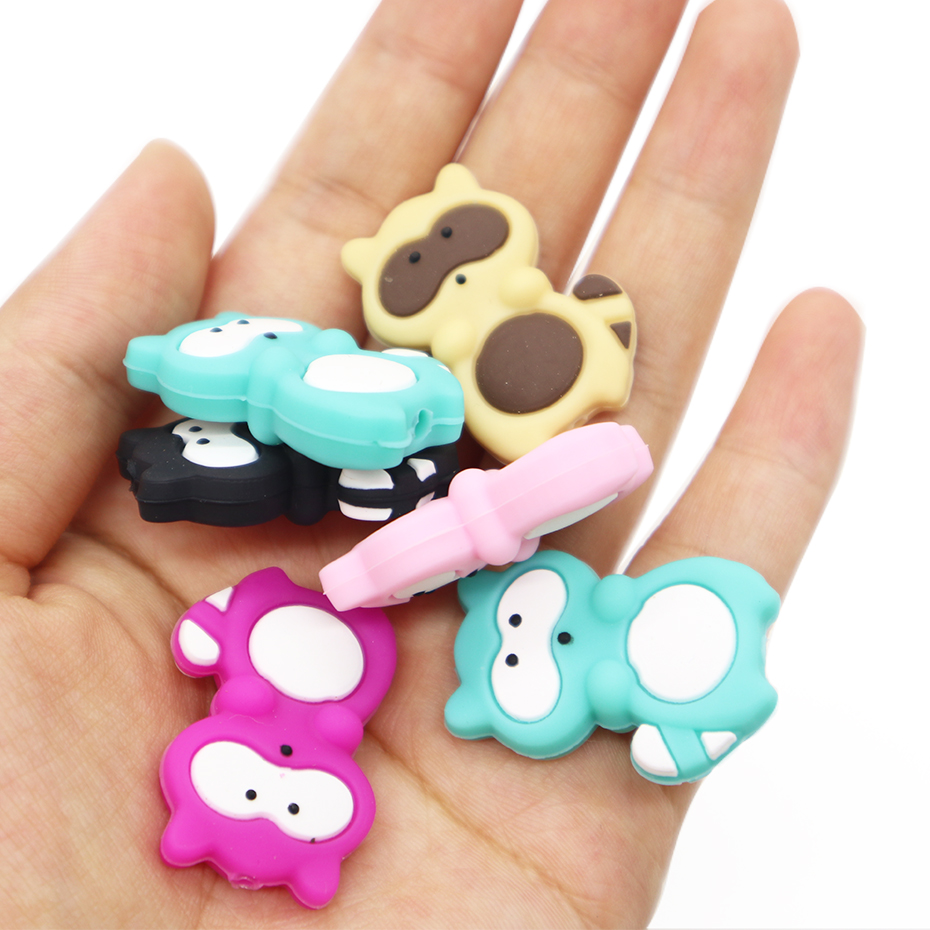 2017 China Factory New Product Silicone Raccoon Beads Chew Baby Teething Beads/Silicone Teething Baeads Teether Toys
