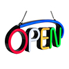 Led open neon sign hanging open signage for window display