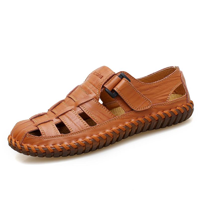 Estate nuovi sandali di modo degli uomini di sport all'aria aperta scarpe casual più il formato degli uomini fatti a mano scarpe