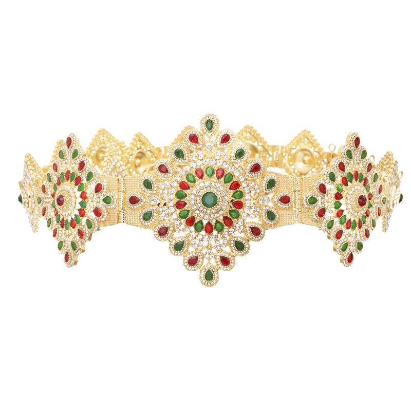Full diamond belt rhinestone body jewelry adjusts the length of the European metal waist chain caften wedding dress metal belt