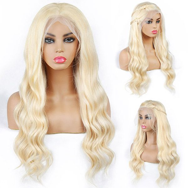 180% density Brazilian <strong>Body</strong> <strong>Wave</strong> <strong>Human</strong> <strong>Hair</strong> Pre-Plucked 613 Lace Front blonde Wig With Baby <strong>Hair</strong>