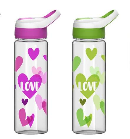 Colorful Double Wall Tritan Plastic Hydration Bottle with sippy cup