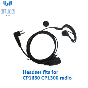 CP1300 CP1660 Walkie Talkie radio headset talking about dual-use headphone easy usage earplug ear piece