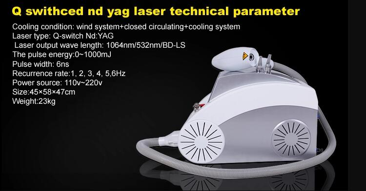 Portable nd yag laser q switch nd yag laser tattoo removal laser machine