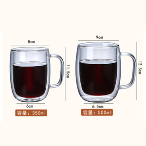 Hot Selling Products Water Cup Double Wall Crystal Handmade Glass Tea Coffee Cup