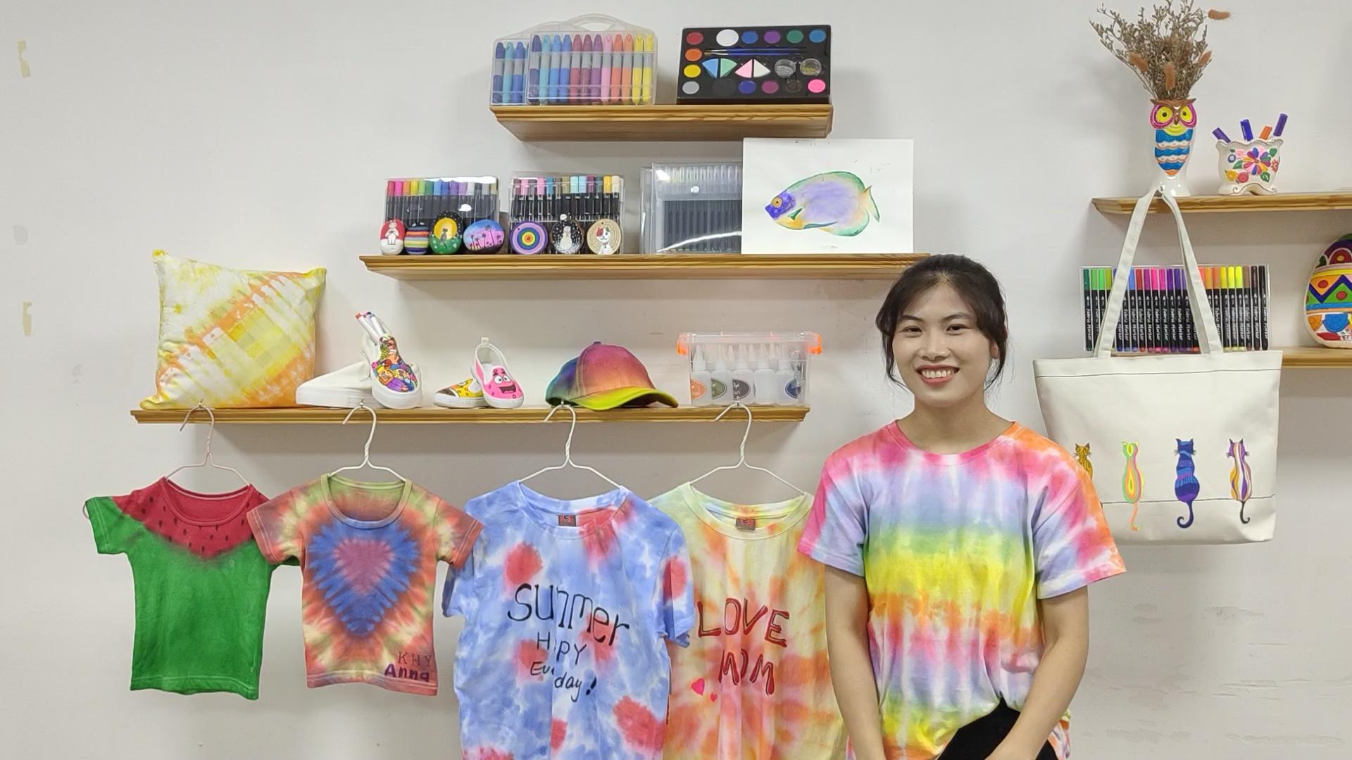 Mẫu Miễn Phí DIY Vải Tie Dye T Áo Sơ Mi Bột Cotton Thuốc Nhuộm Hoạt Tính Cho Thử Nghiệm Của Bạn