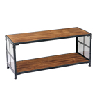 Wooden Metal Frame Coffee Table