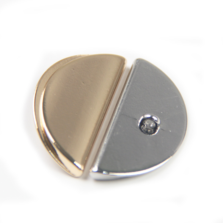 Custom wholesale fashion design moon shape plating alloy metal sewing hook button