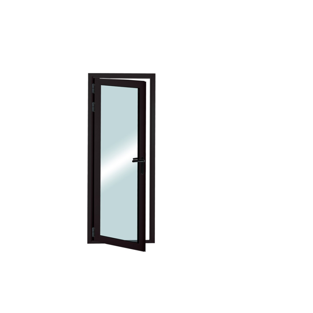 New design factory price patio single panel aluminium casement hinged glass <strong>door</strong>