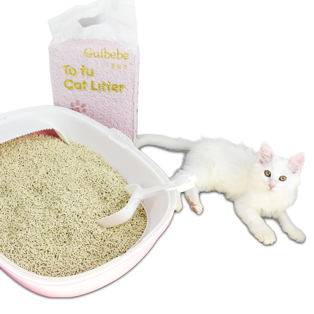 Shipping free tofu cat litter one bag can be used 20-30 days for adult cats