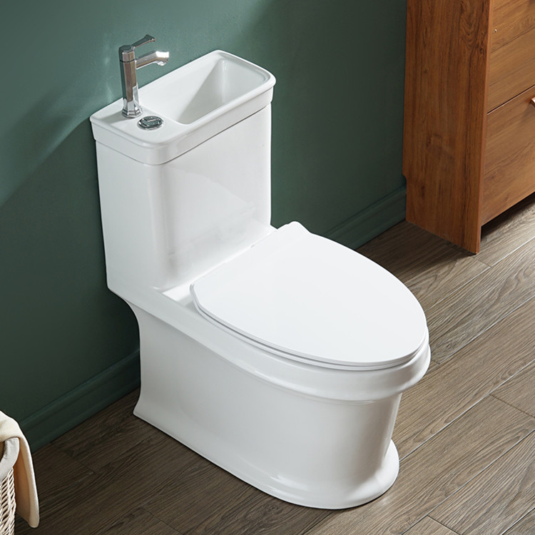 New product siphonic one piece toilet with basin