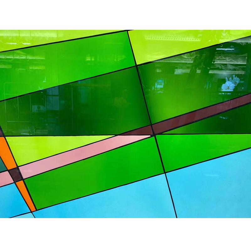 Customized Church Wall Windows Panel Vitray Stained Decorative Pattern Glass