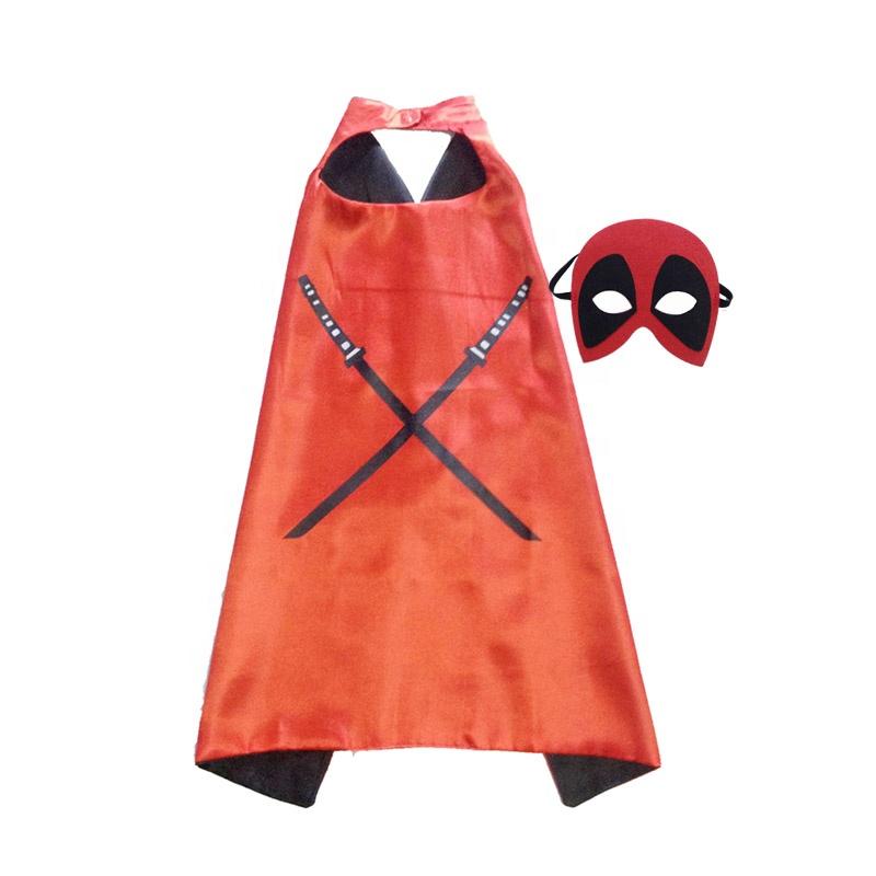 Wholesale Custom NEW Child Favorite Superhero Cosplay Kids Hero Cape Cloak Set Costume For Birthday Party