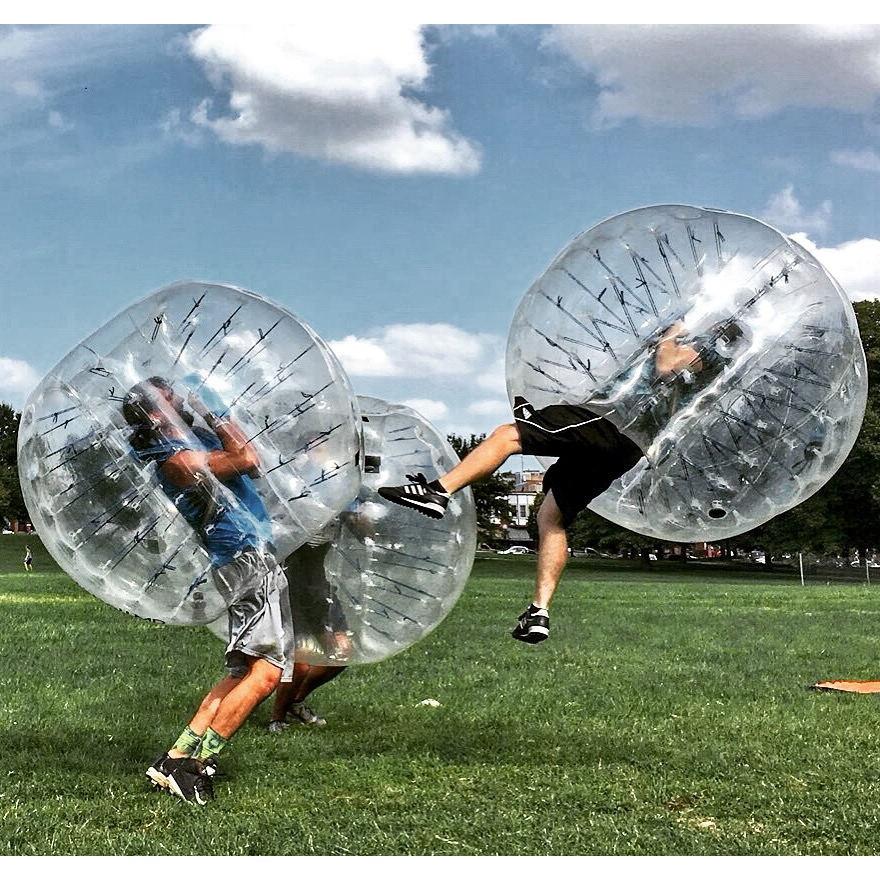 Günstige Große Aufblasbare Fußball Belly Bumper Ball Für Erwachsene/Kinder Menschlichen Körper Zorb Ball Aufblasbare Tpu Blase Fußball Ball