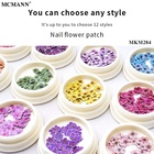 3d Nail Sticker Flower Stickers 3d Nail Sequins MCMANN 3D Nail Sticker Flower Pattern Design 12 Colors Nail Art Sequins Stickers For Colorful DIY Women Jewelry Decoration