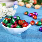 High quality Easter egg shape dark chocolate casual snack
