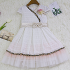 New Hot Sale White Children Boutique Clothing Last Kids Dress Design Gowns On Sale