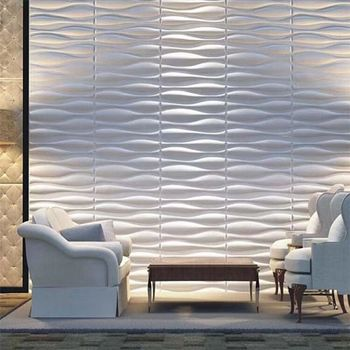 3D Embossed Green Material Building Product 3D Wall Panels For UK