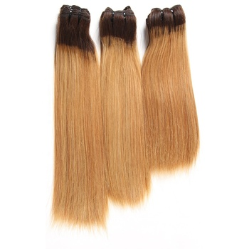 Wholesale Accept Paypal 1B/27# Double Drawn Mink Natural Raw Virgin Russian Straight Human Hair Extensions